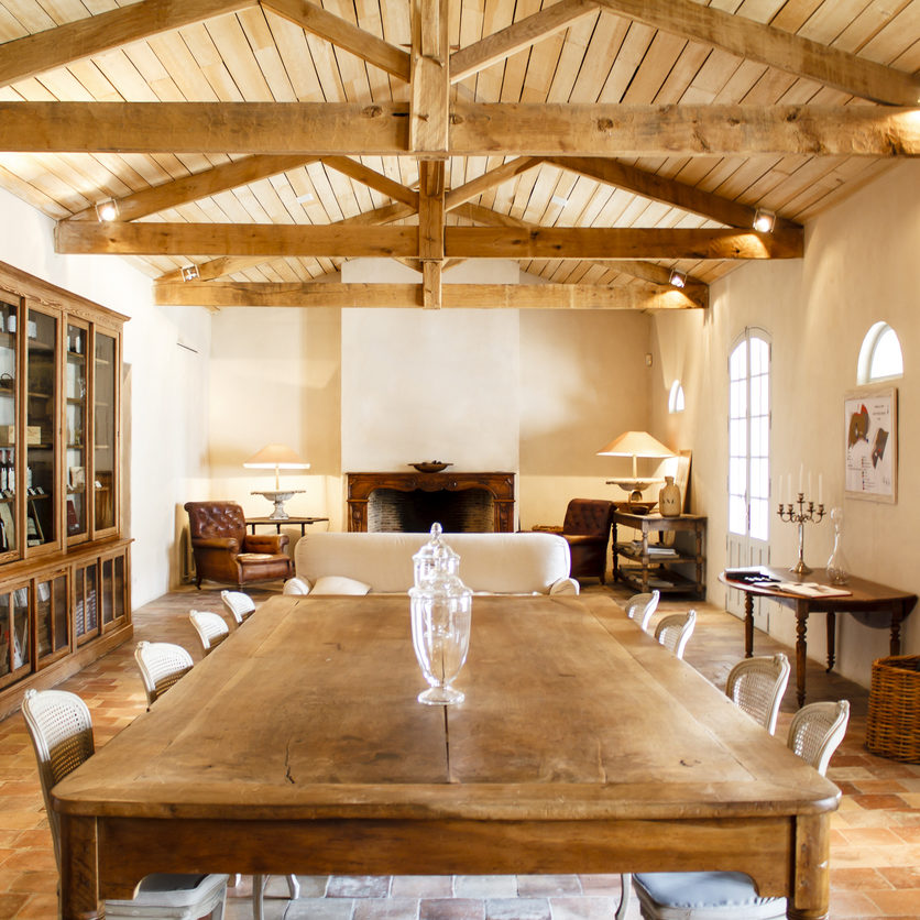 Rich rural French house interior